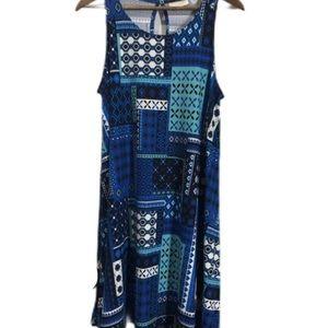 🆕BB Blue Gypsy Patch Work Sleeveless Short Dress